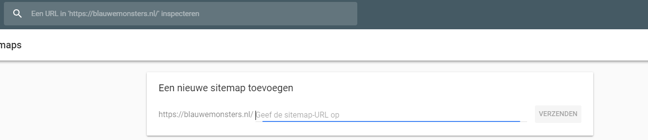 XML sitemap search console invoeren