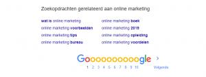 zoekopdrachten google