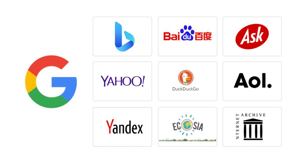 grootste zoekmachines